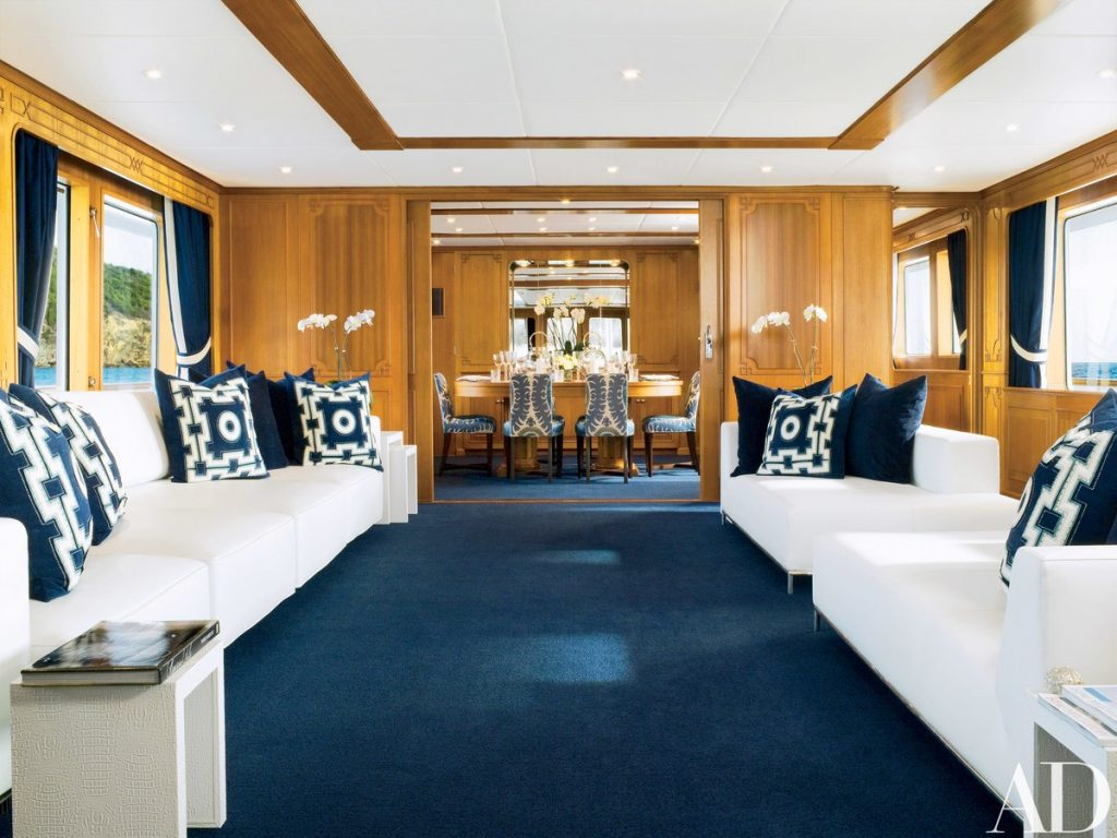 Yacht interiors style